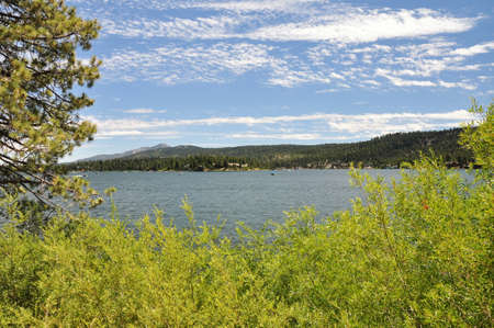 bear lake: View of Big Bear Lake in the summertime.