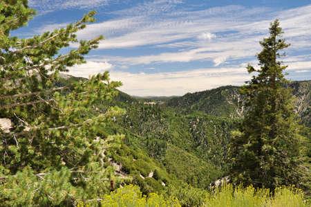 bernardino: Looking over the San Bernardino mountains from Highway 18.