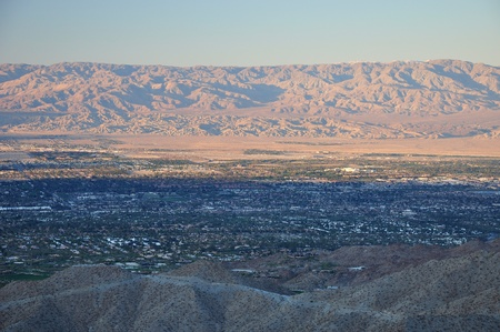 Late afternoon view of Palm Desert, California. photo