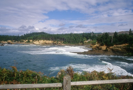 Beautiful Boiler Bay on the central coast of Oregon  photo
