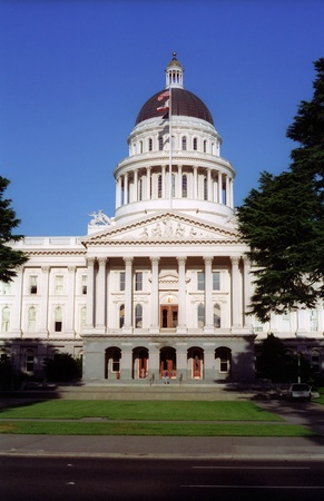 california state: View of the State Capital Building in Sacramento, California
