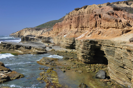 rugged: View of the rugged and beautiful coastline of Point Loma in San Diego, California.