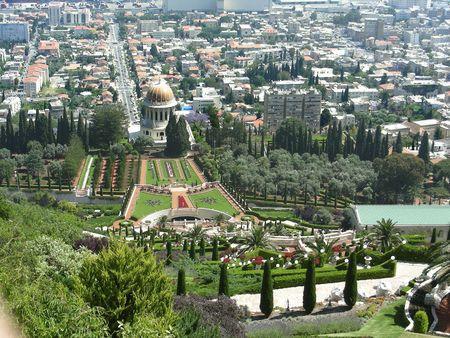 haifa:   Bahai Gardens, Haifa, Israel Stock Photo