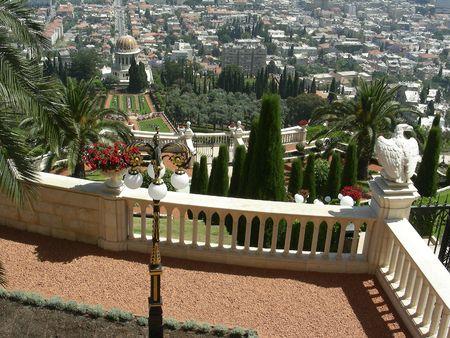 Bahai Gardens, Haifa, Israel photo