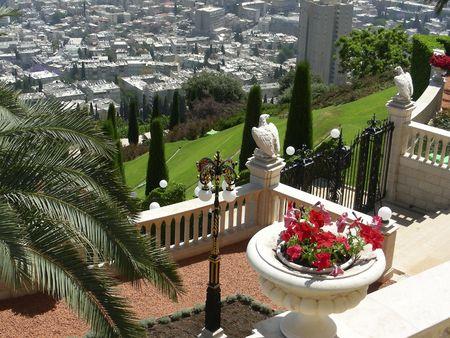 bahai:     Bahai Gardens, Haifa, Israel
