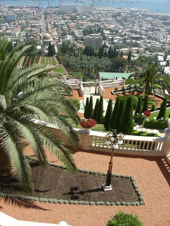 bahai:      Bahai Gardens, Haifa, Israel Stock Photo