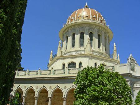 bahai:  Cupola,  Bahai Temple, Haifa, Israel