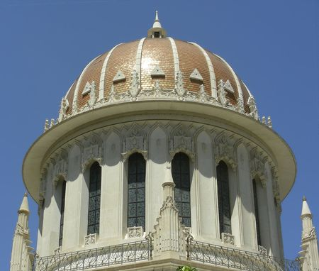 bahai:  Gold cupola of Bahai Temple