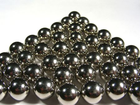 steel balls: Steel balls on white background