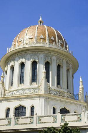 Temple baha'ie à Haïfa, la tombe du Bab, l'une des figures centrales de la foi bahá'íe.  Banque d'images - 575014