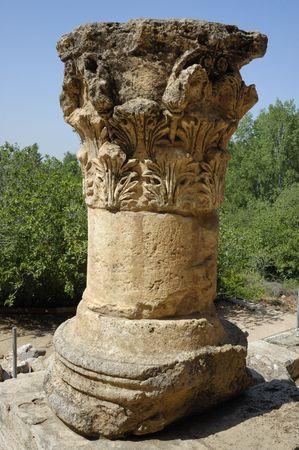 banias: ancient column, sanctuary of Pan, Banias, Israel