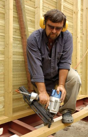 construction worker, carpenter in time of work Stock Photo - 941993
