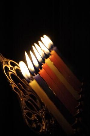 chanuka: Chanuka candles in chanukia