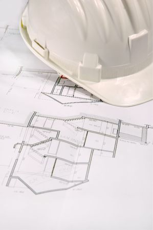 helmet and draft, architecture concept Stock Photo - 2497752