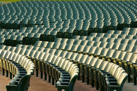lecture theatre: chairs of empty auditorium Stock Photo