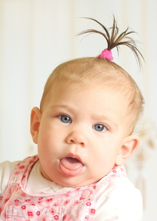 Cute seven months old happiness girl  photo
