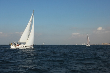 Racing yachts in a  Mediterranean sea  Stock Photo - 11652352