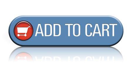 bouton ajouter: Un bouton Web de commerce �lectronique qui dit ajouter � la s�lection sur un fond blanc r�fl�chissant