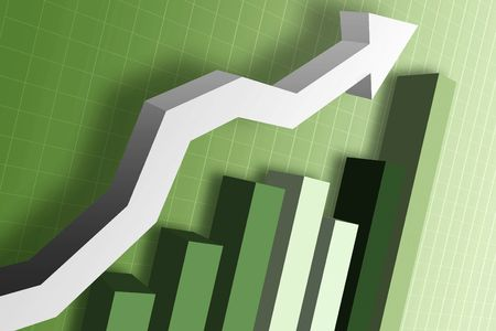 A business chart showing the money  market Stock Photo