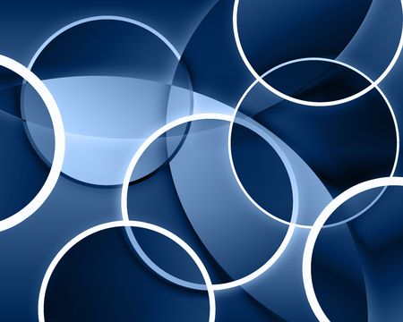 An abstract background with overlapping circles producing different colors and shapes Stock Photo