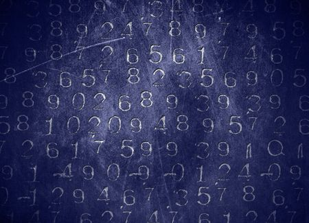 An abastract background with coded numbers