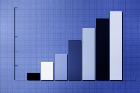 A business graph  chart Stock Photo