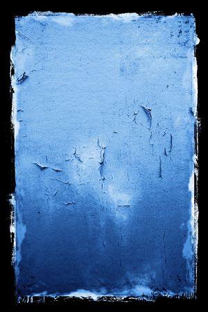 Peeling Textured Grunge Background with black border