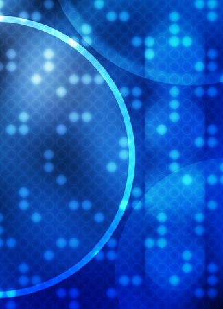 A techy background made up of overlapping circle shapes