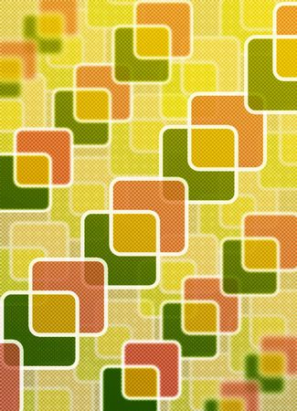 overlaying: An abstract retro background made up of rounded rectangles overlapping with an overlaying texture Stock Photo