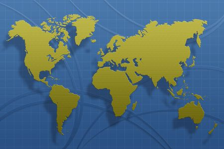 The world map on a abstract background