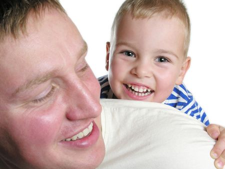 educative: faces father with sun isolated