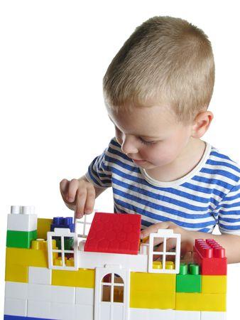 boy build house photo