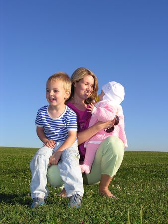 mococa: mother with children Stock Photo