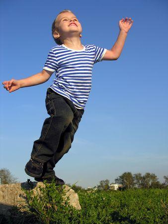 child will jump