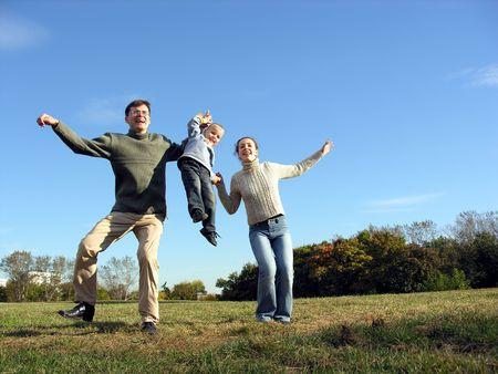 else: dancing or something else doing family :-) Stock Photo