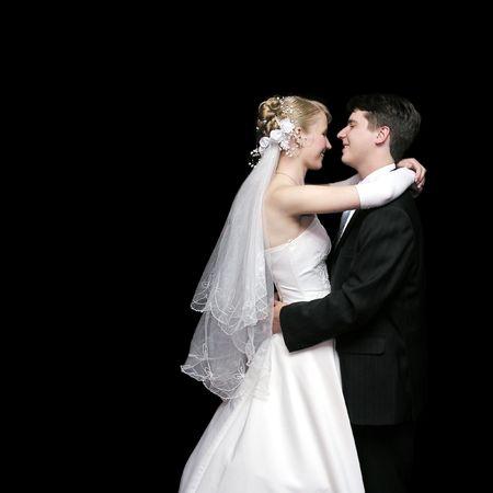 bride and groom dancing in the dark 2 photo