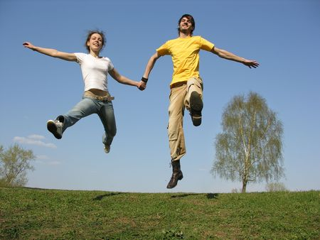 full strenght: jumping couple. spring
