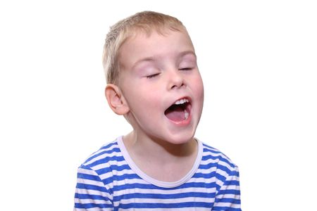 child singing: child singing Stock Photo