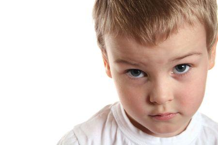 lamentable: sad boy Stock Photo