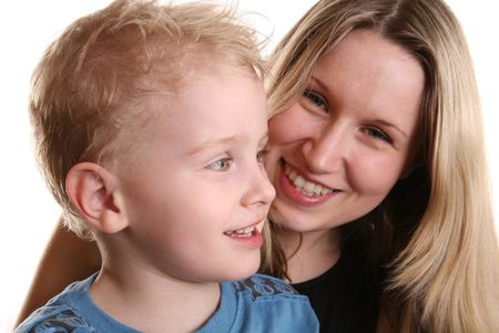 boy with mother behind Stock Photo - 424987