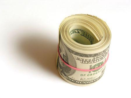 bankroll: dollars in roll
