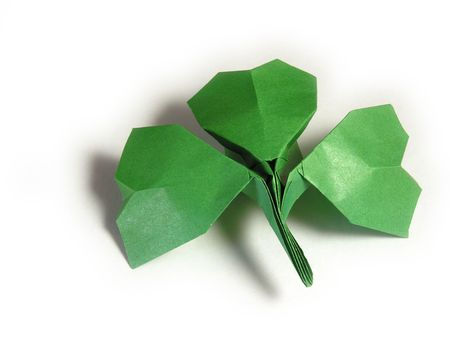 shamrock paper Stock Photo - 424960
