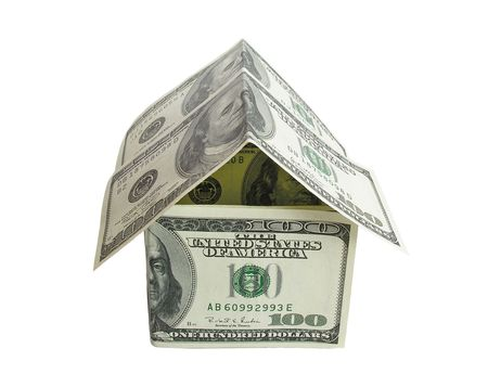 dollar house 2 Stock Photo - 424952
