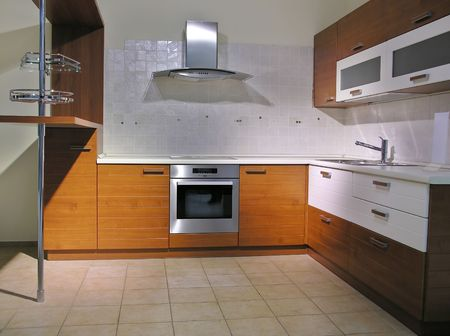 metall and glass: kitchen 4 Stock Photo