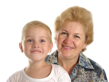 grandmother with boy Stock Photo - 430389