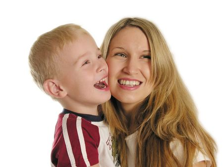 mamma: mother with child smile