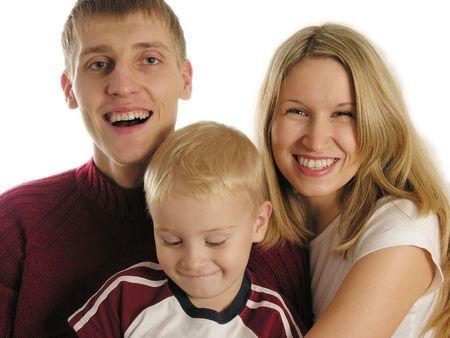 family of three isolated 2 Stock Photo - 430396