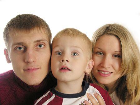 family of three isolated 3 Stock Photo - 430392