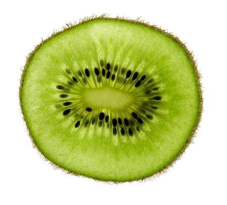 healthful: Kiwi rebanada  Foto de archivo