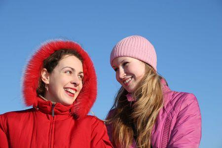 helpmate: best friends . winter Stock Photo